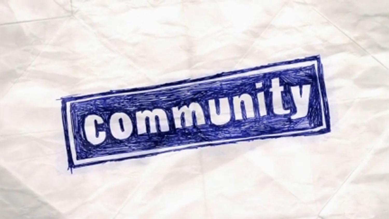 """Community"" title card."