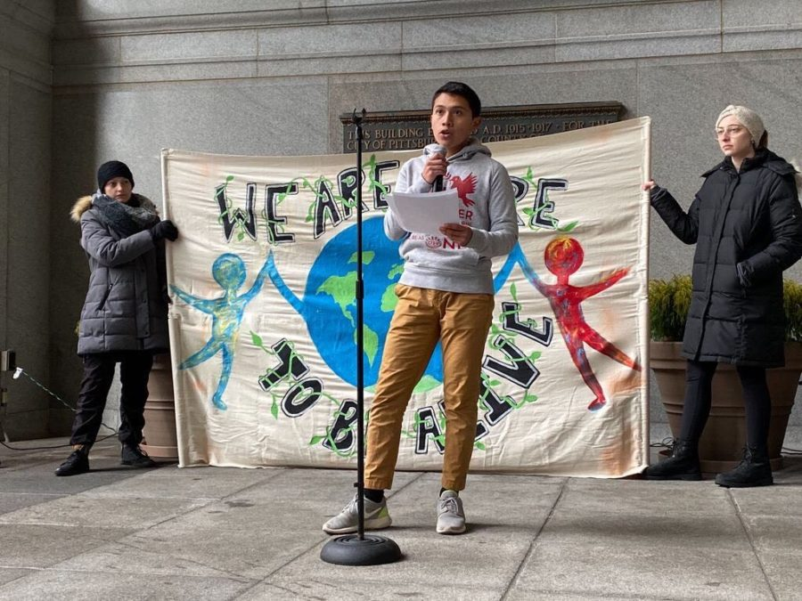Students, activists rally again Downtown for climate action
