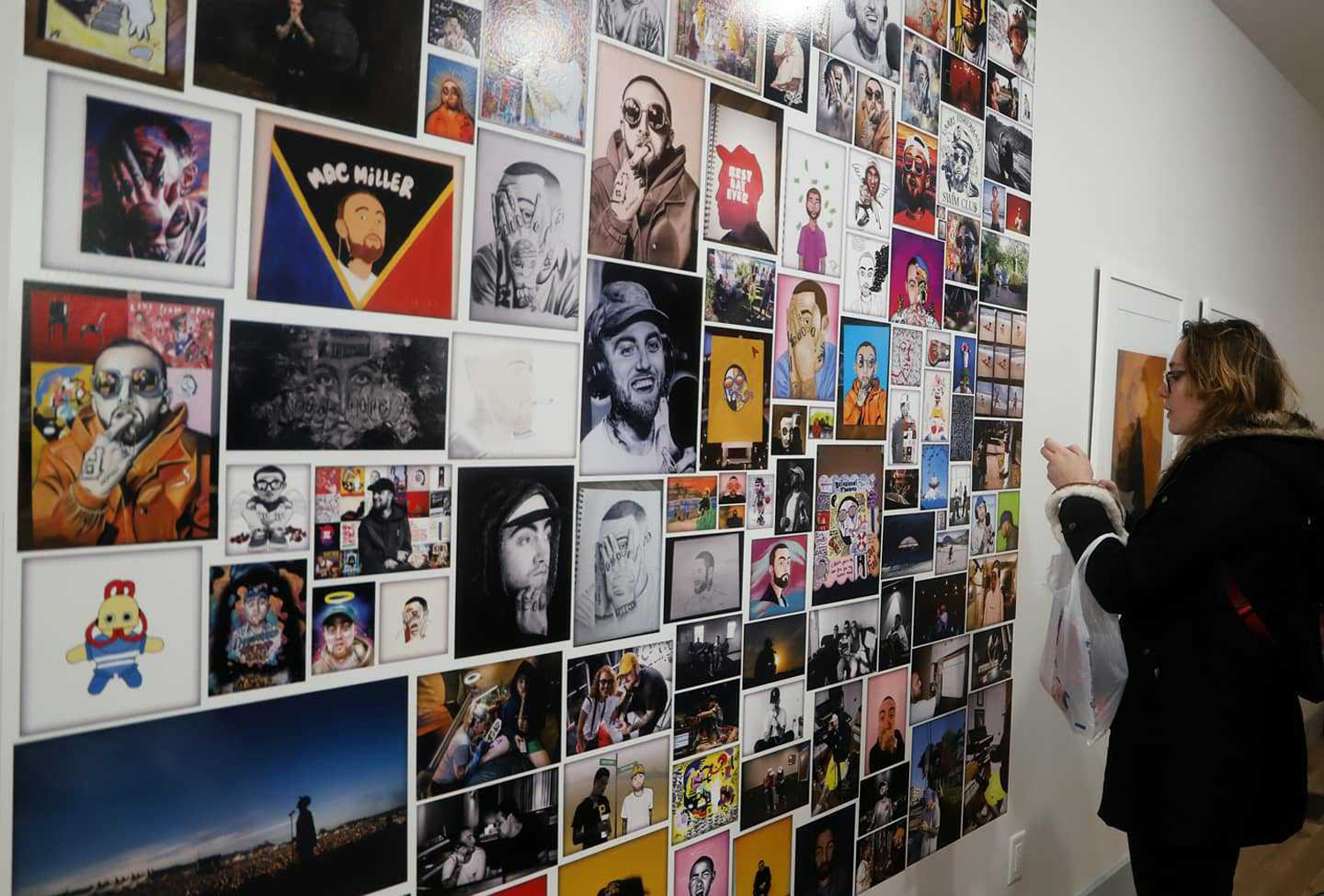 """A gallery to commemorate the release of Mac Miller's posthumous album """"Circles"""" was set up in Pittsburgh's North Side on Friday and Saturday."""
