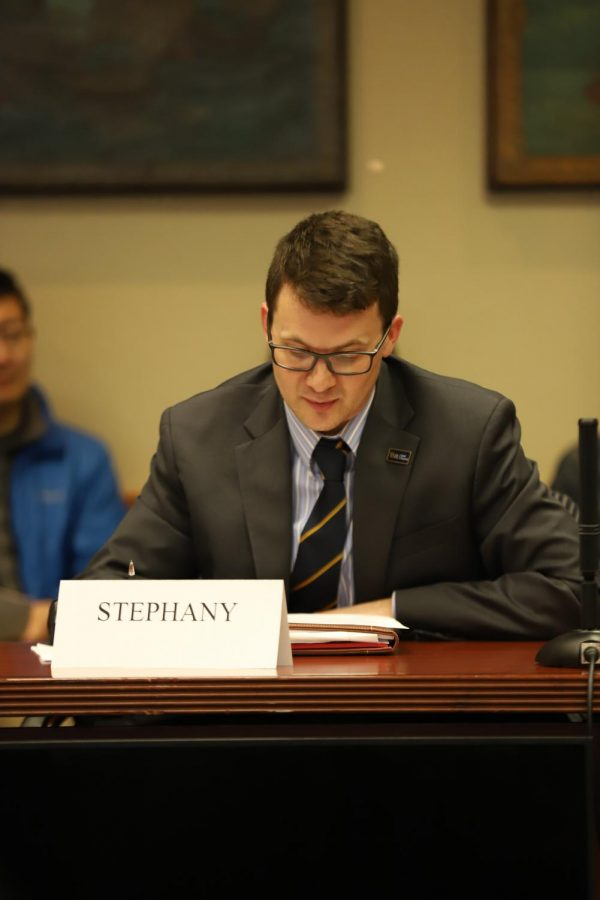 Andy Stephany, the Staff Council president, reiterated the importance of Pitt community members sharing their opinions on the Plan for Pitt 2025, particularly because the planning process only occurs every five years.