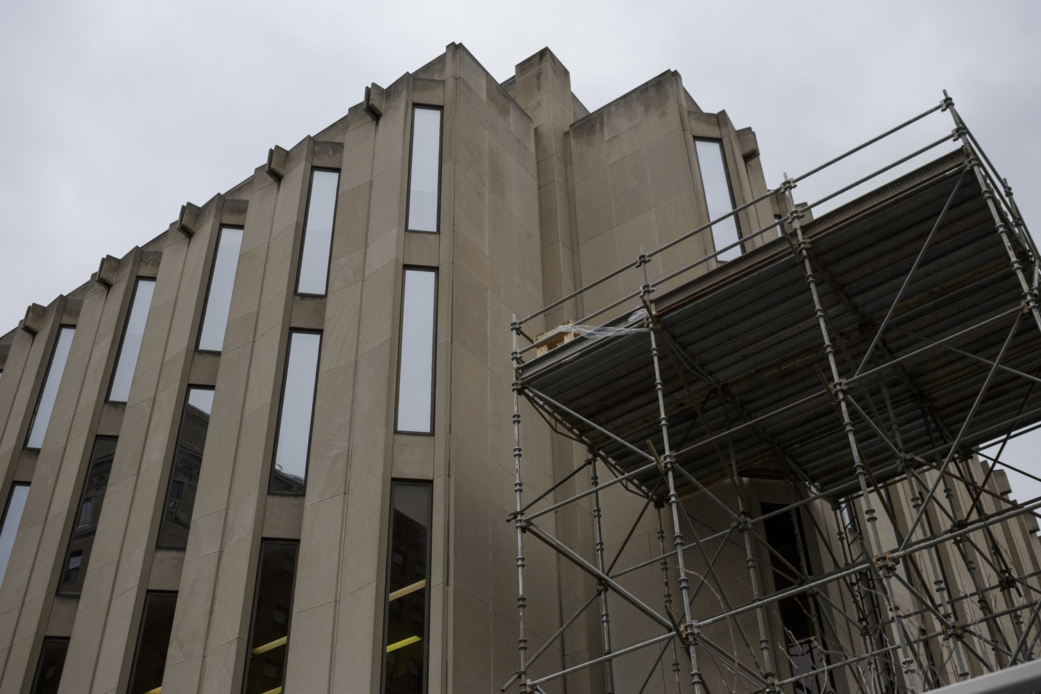 Hillman Library's renovations are aimed for completion by 2023.