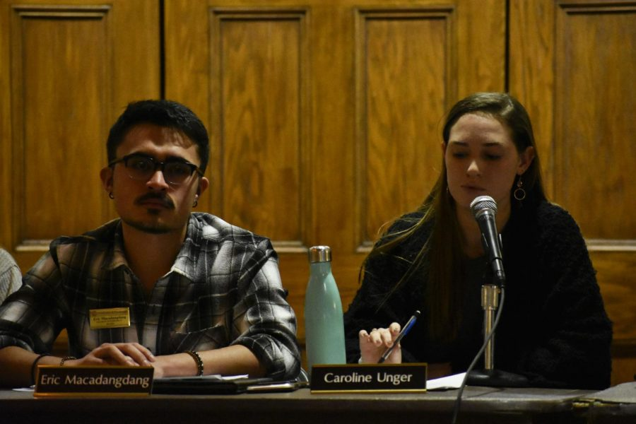 The Student Government Board started its weekly meeting with a moment of silence for Pitt senior Barbara Como.