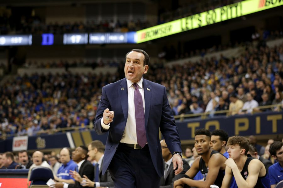 Coach Krzyzewski's Blue Devils currently lead the midseason ACC basketball rankings.