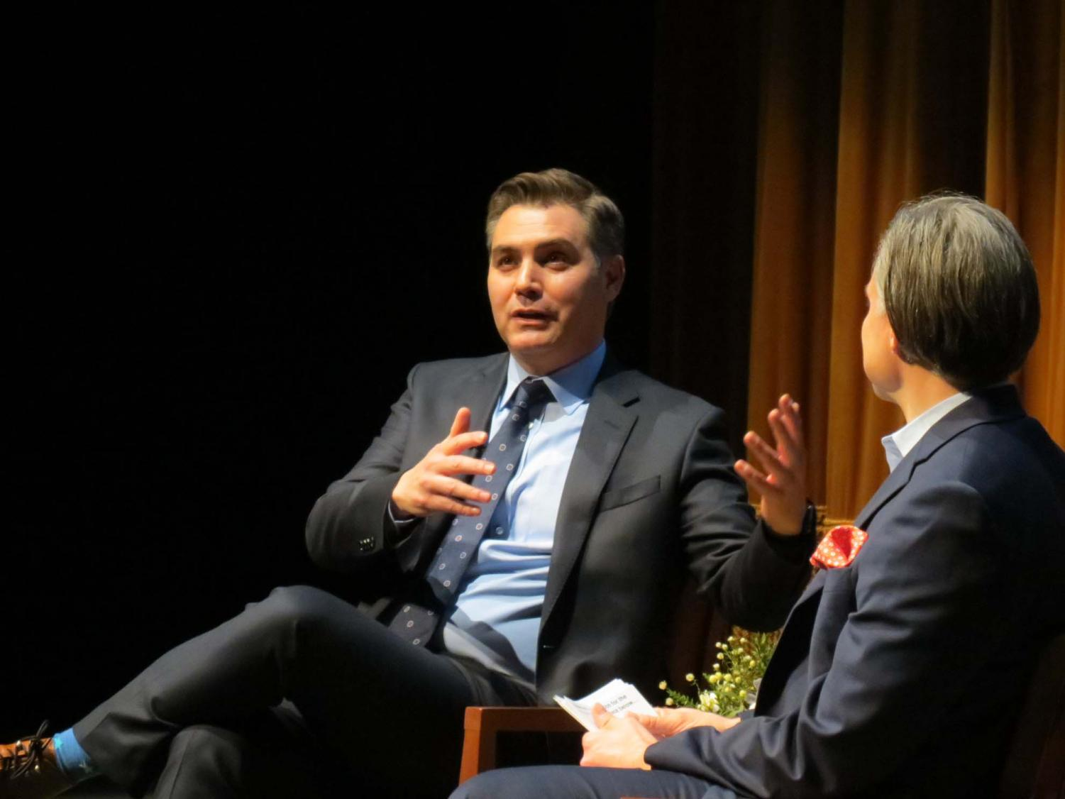 """Jim Acosta, CNN's chief White House correspondent, visited Point Park University's Pittsburgh Playhouse and discussed his new book """"The Enemy of the People: A Dangerous Time to Tell the Truth in America,"""" as well as his experiences in the White House."""