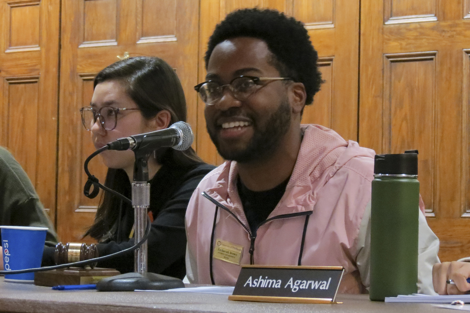 SGB President Zechariah Brown discusses the updates to the Student Organization Resource Center's naming guidelines at Tuesday evening's weekly meeting.