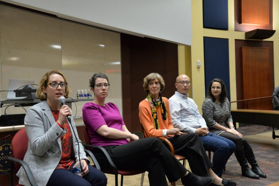 Health+experts+and+Pitt+faculty+spoke+in+a+Coronavirus+Teach-in+hosted+by+The+Pitt+Asian+Studies+Center+and+discussed+the+research+being+done+to+develop+vaccines+to+treat+the+novel+coronavirus+and+historical+precedents+for+the+prevention+of+diseases.+