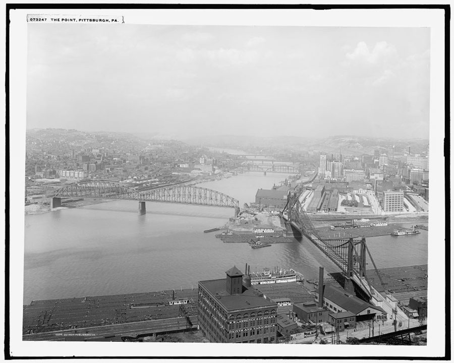 The Point in Pittsburgh during the 1910s.