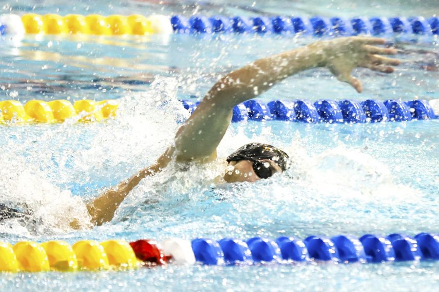 Junior swimmer Blaise Vera holds three school records in the 50-meter free, 100-meter free and 100-meter fly.
