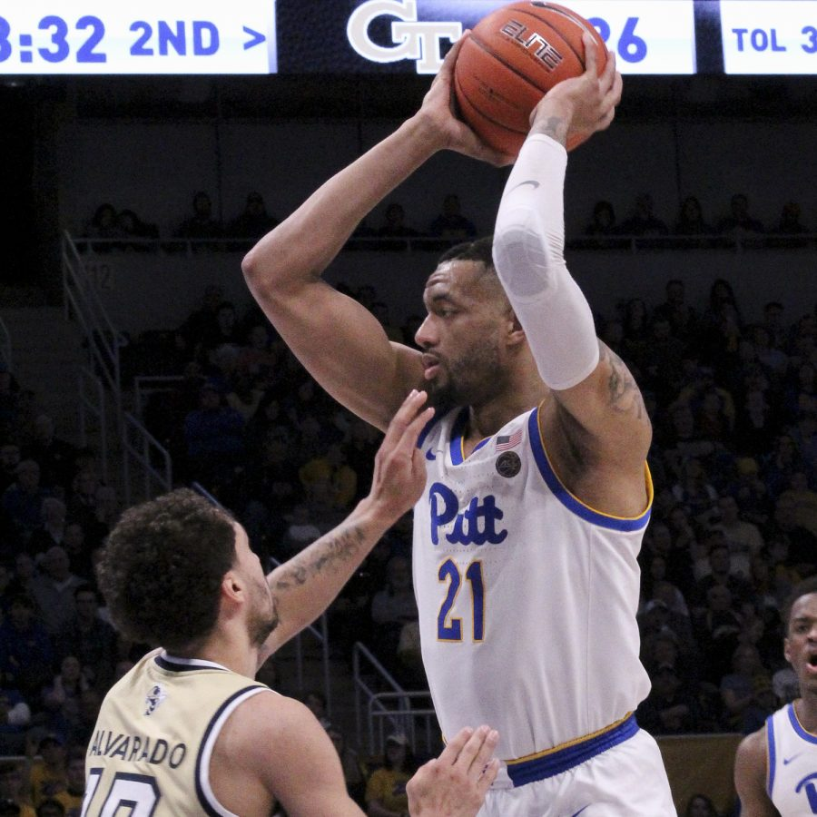 Junior center Terrell Brown at Saturday's 73-64 victory over Georgia Tech.