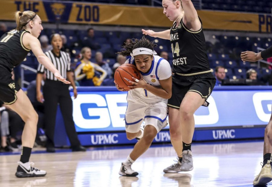 First-year guard Dayshanette Harris led the Panthers with seven points in the opening period before being elbowed in the face by Irish senior guard Kaitlin Cole midway through the second quarter.