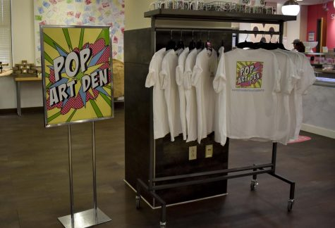 The Pop Art Den was founded by the College of Business Administration as part of a class and became a full-fledged space for student internships and for student artists to sell their work.