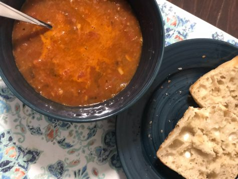 The Quarantine Cookbook | Smoked paprika chickpea and chicken sausage soup