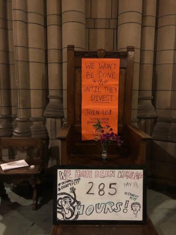 Fossil Free Pitt ends occupation of Cathedral