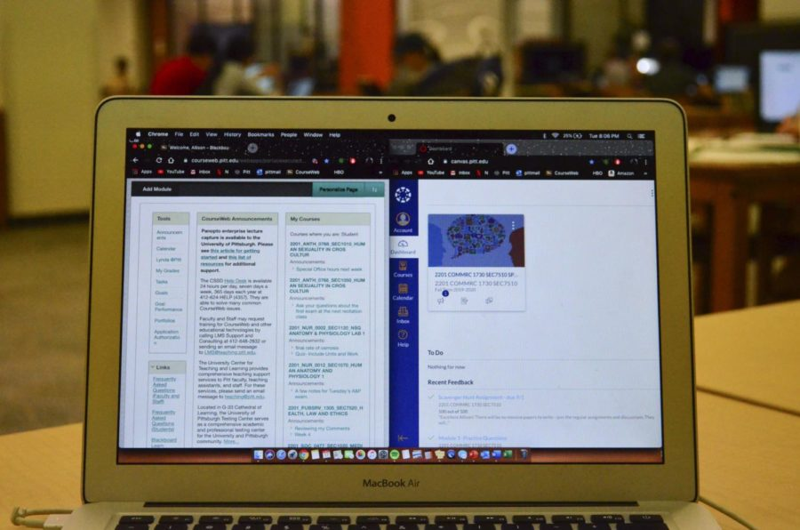 Beginning Monday, Pitt will continue classes online for the remainder of the semester.