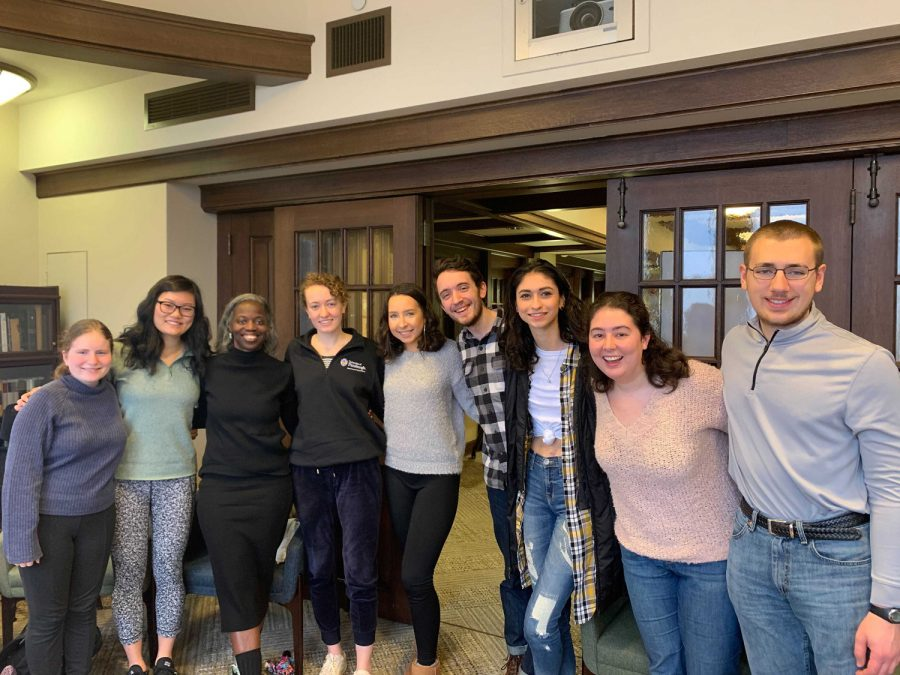 janera solomon spoke with a dozen students on Tuesday morning to discuss Pittsburgh's theater scene during the Honors College's Alumni Breakfast Series.