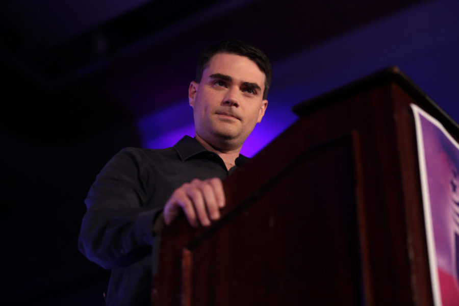 Ben+Shapiro+speaks+at+the+2018+Young+Women%27s+Leadership+Summit+hosted+by+Turning+Point+USA+in+Dallas.+