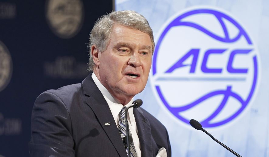 ACC+Commissioner+John+Swofford+issued+a+statement++regarding+the+conference%27s+cancellation+of+athletic+activities.
