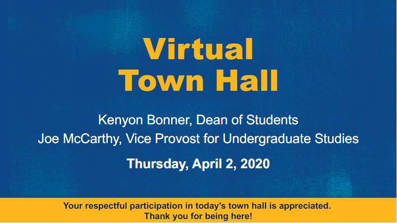 Bonner, McCarthy address student concerns in virtual town hall