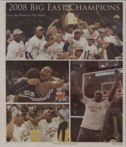 Archival photos of Pitt's 2008 Big East Tournament win.