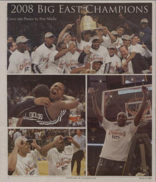 Archival photos of Pitt's 2008 Big East Tournament win.