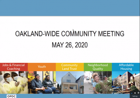 The Oakland Planning and Development Corp. held its first meeting since February on Tuesday evening.