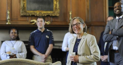 Provost Ann Cudd, right, and James Martin II co-chair the Task Force on Reimagining Pitt Education.