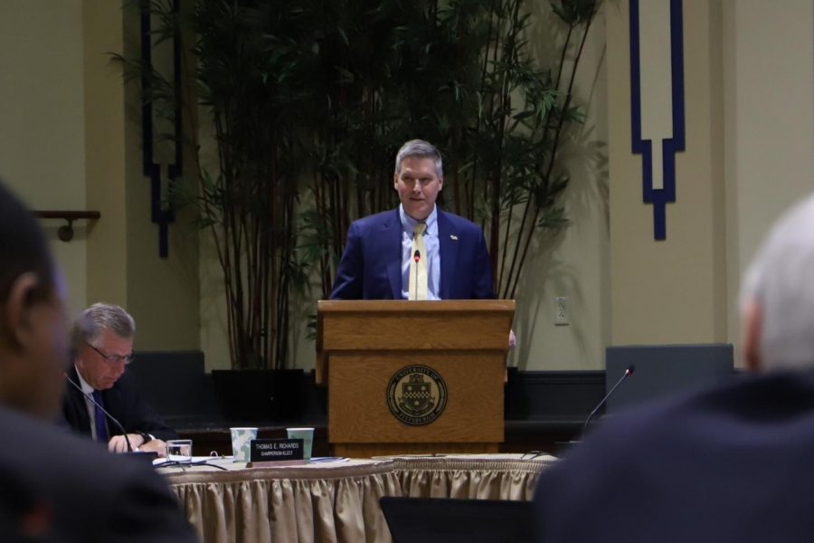 Chancellor Patrick Gallagher said Wednesday that Pitt will postpone Plan for Pitt 2025 in order to include strategies to strengthen racial equity justice on campus.