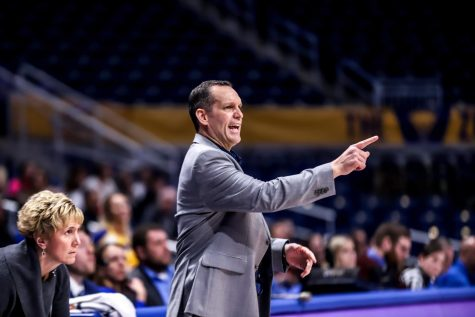 Lance White, Pitt women's basketball head coach, is rebuilding his young basketball team as he recruits players from across the globe.