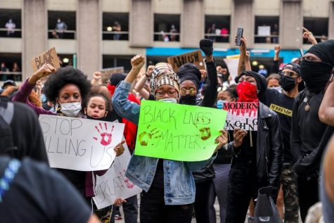 Protesters gather in Downtown Pittsburgh in response to the killing of George Floyd.