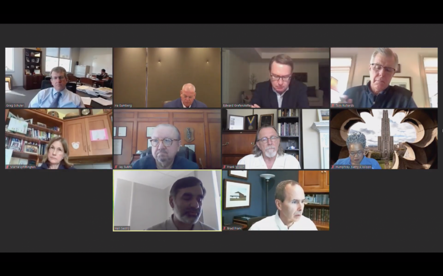 The investment committee of the board of trustees met Tuesday via Zoom.