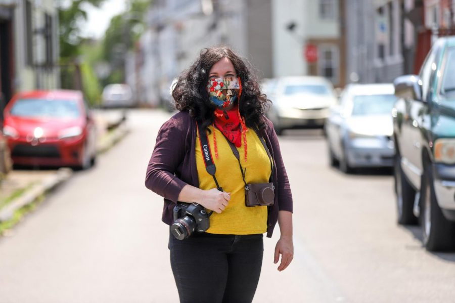 Ivette Spradlin, a professor of photography at Pitt and Carnegie Mellon University, has spent her quarantine taking portraits of Pittsburgers outside their family homes.
