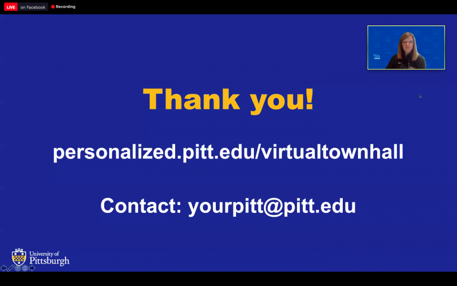 Julia Spears, the associate vice provost for academic innovation, moderated Thursday's virtual town hall.
