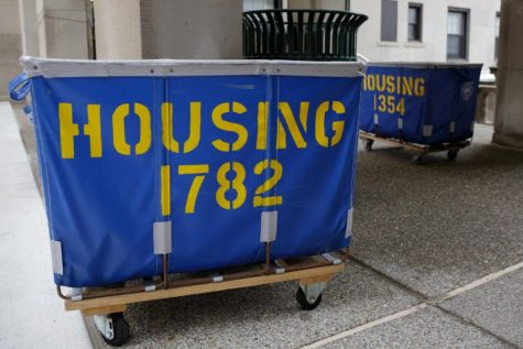 A housing cart in the Schenley Quadrangle.