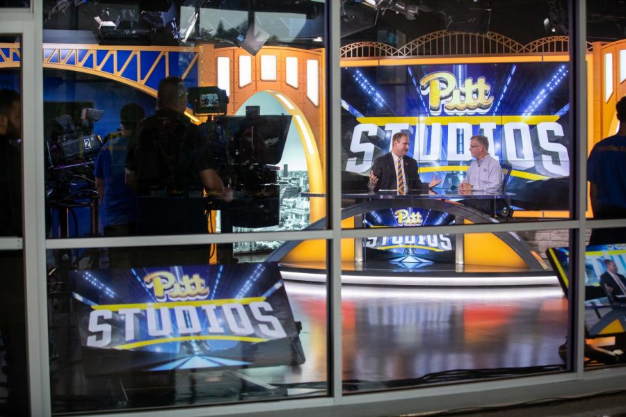 Kevin Smith teaches a class on broadcasting through Pitt Studios, where he said students interested in production can apply their skills to filming live sporting events and news stories.