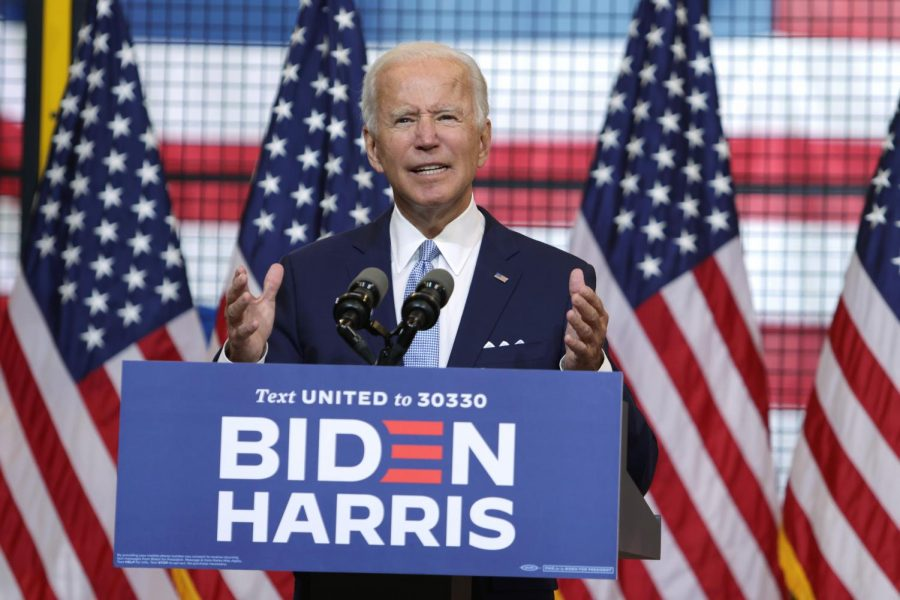 Joe Biden visited Pittsburgh on Monday afternoon and spoke in the City's Hazelwood neighborhood.