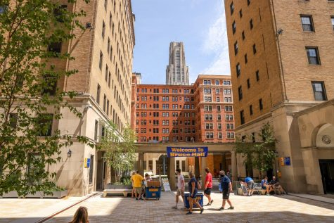 Pitt students begin moving into campus on Tuesday.