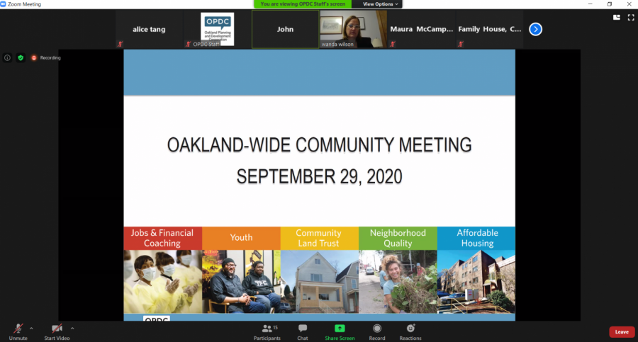 Oakland+Planning+and+Development+Corp.+held+a+meeting+Tuesday+evening+via+Zoom.+