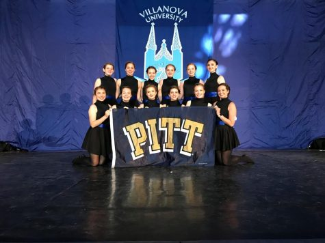 The Pitt Irish Dance Team poses at the inter-collegiate competition at Villanova in 2018.