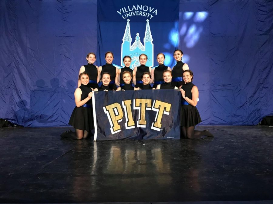 The+Pitt+Irish+Dance+Team+poses+at+the+inter-collegiate+competition+at+Villanova+in+2018.%0A%0A