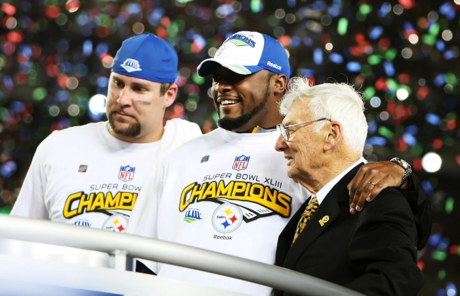 The Rooney Rule, adopted by the NFL in 2003, is named after late former Steelers owner, Dan Rooney (right).