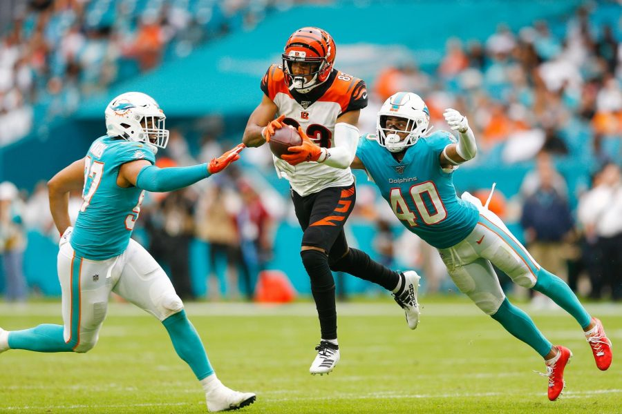 Tyler Boyd got his season off to a slow start, totaling only 33 yards on four receptions against the Los Angeles Chargers.
