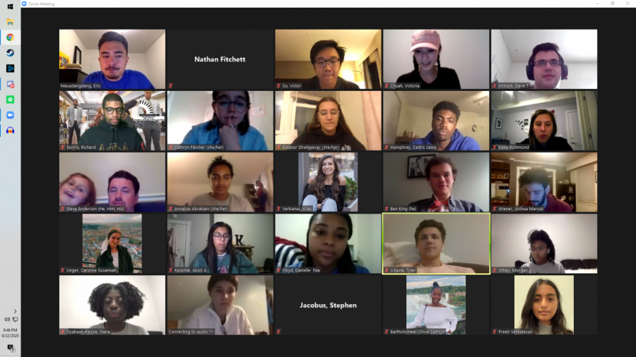 Student Government Board met Tuesday night via Zoom.