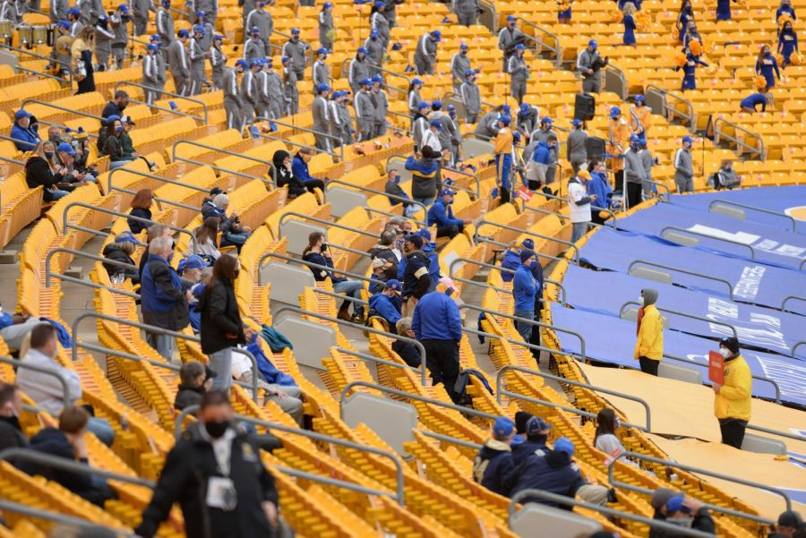 Pitt hosted fans for the first time since Nov. 2019 on Saturday.