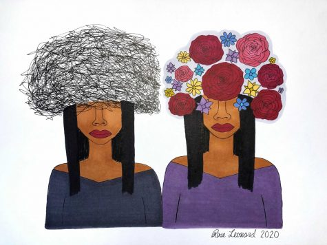 Rose Leonard submitted two pieces to the exhibit hoping to share her art and bring awareness to mental illness.