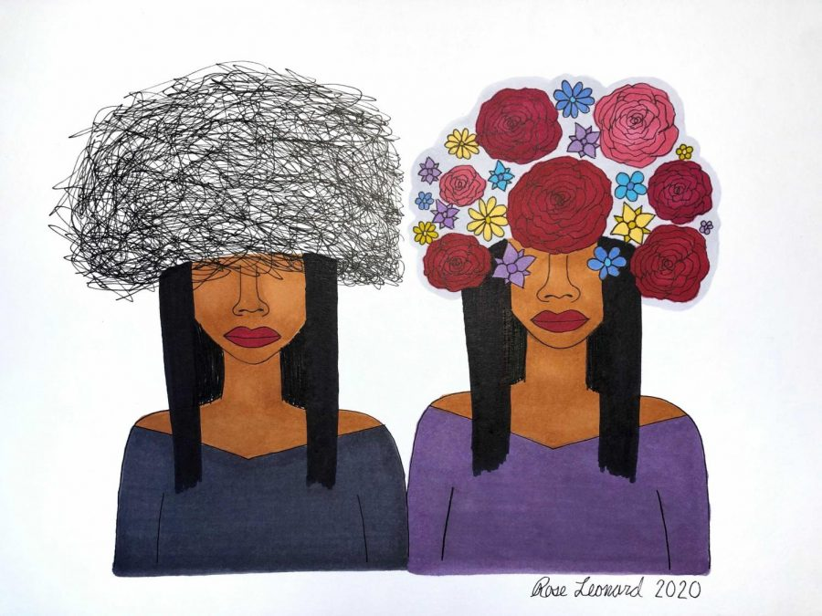 Rose+Leonard+submitted+two+pieces+to+the+exhibit+hoping+to+share+her+art+and+bring+awareness+to+mental+illness.