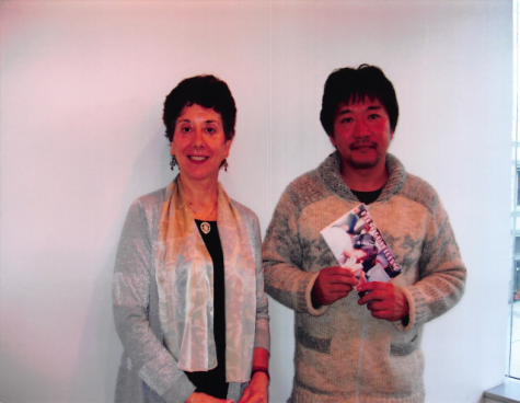 "Author of ""The Films of Hirokazu Koreeda: An Elemental Cinema,"" Linda Ehrlich (left) poses with Japanese filmmaker Hirokazu Koreeda (right)."