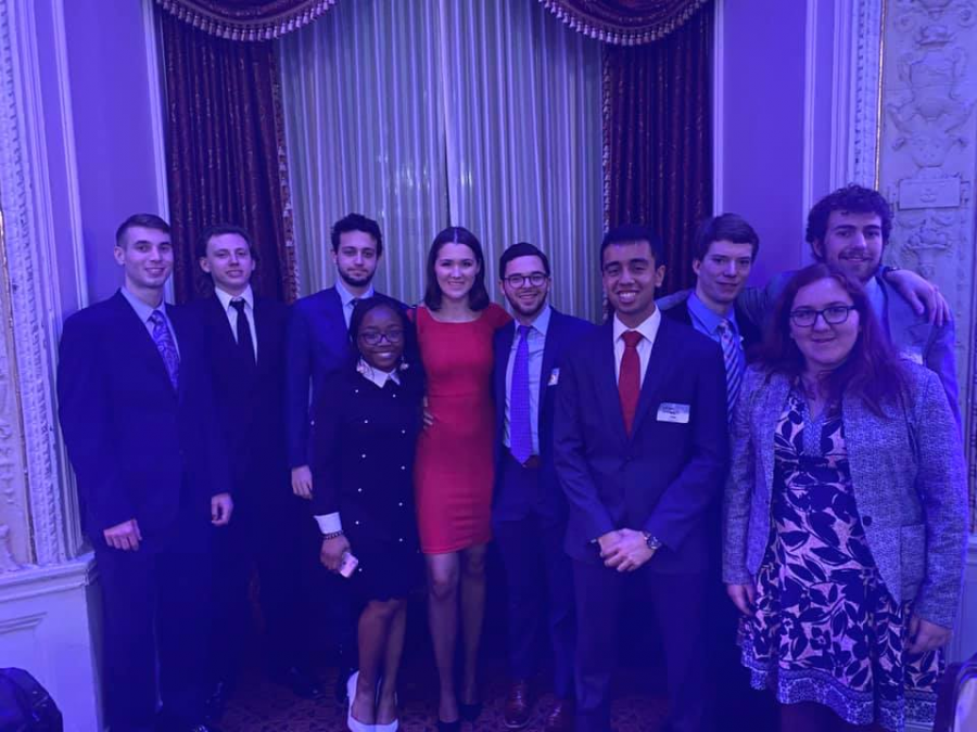 Members of Pitt College Republicans at the 2020 Lincoln Dinner in February.