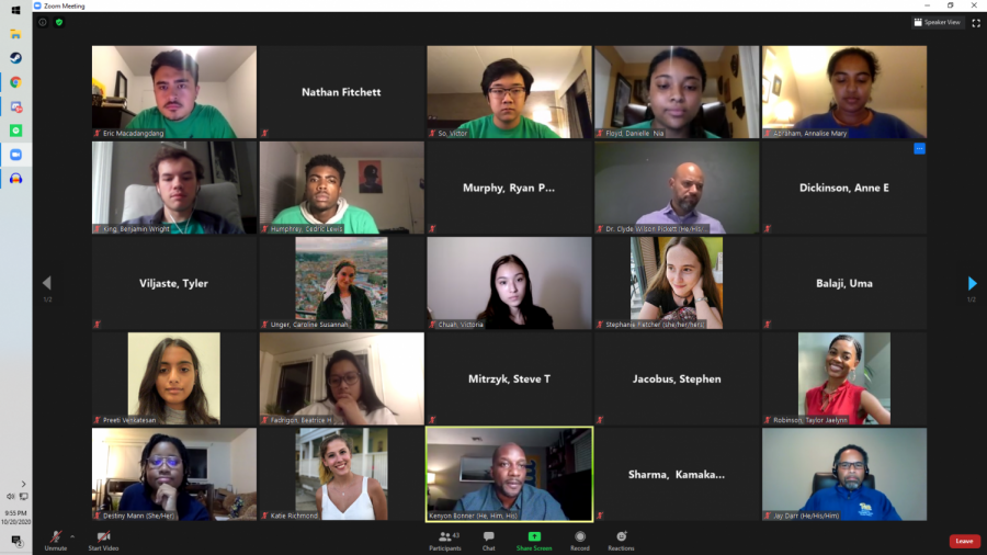 Student Government Board hosted a virtual town hall with Black Action Society in place of its usual Tuesday night meeting this week. The event focused on mental health as it relates to COVID-19 and the Black Lives Matter movement.