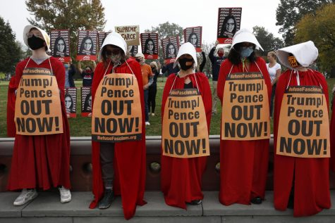 Protesters and supporters of U.S. Supreme Court nominee Amy Coney Barrett rally during the Senate Judiciary Committee meeting in Capitol Hill on Oct. 22.