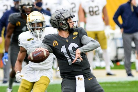 First-year quarterback Joey Yellen filled in for the Panthers during the last two Pitt games while Kenny Pickett dealt with an ankle injury.